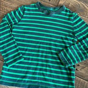 Mini Boden stripe cotton long-sleeve tee size 5/6
